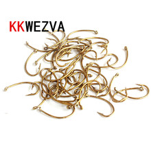 цена на KKWEZVA 100PCS Size #8 #12 Golden hooks Multiple Color Trout Fishing Flies Scud Shrimps Scud Cezch Fly Fishing Fly Nymphs hooks
