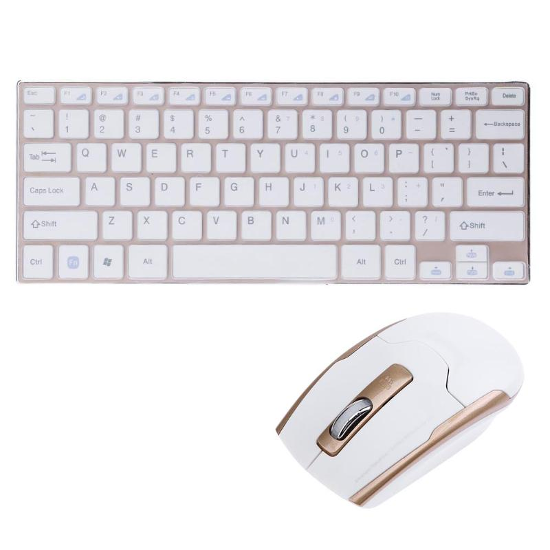 2.4G Metal Ultra- Portable Wireless Keyboard with 1000/1600DIP adjustable Mouse Set for PC Laptop