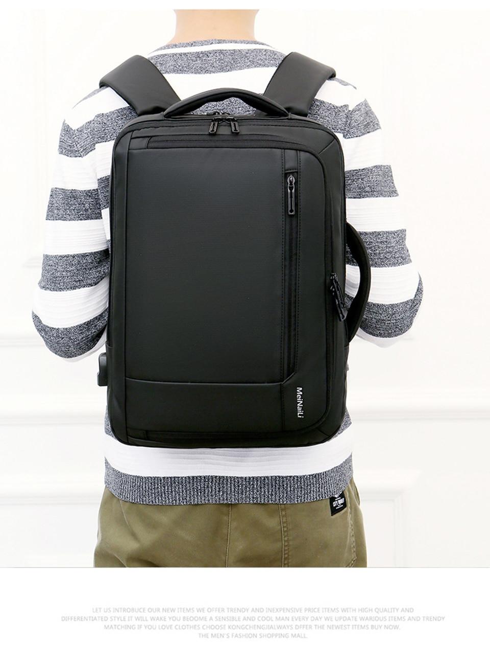11 Multifunction USB Backpack Man Bag 15.6inch Laptop Backpacks Travel Bags Large Capacity Luggage Backpacking Waterproof Notebook
