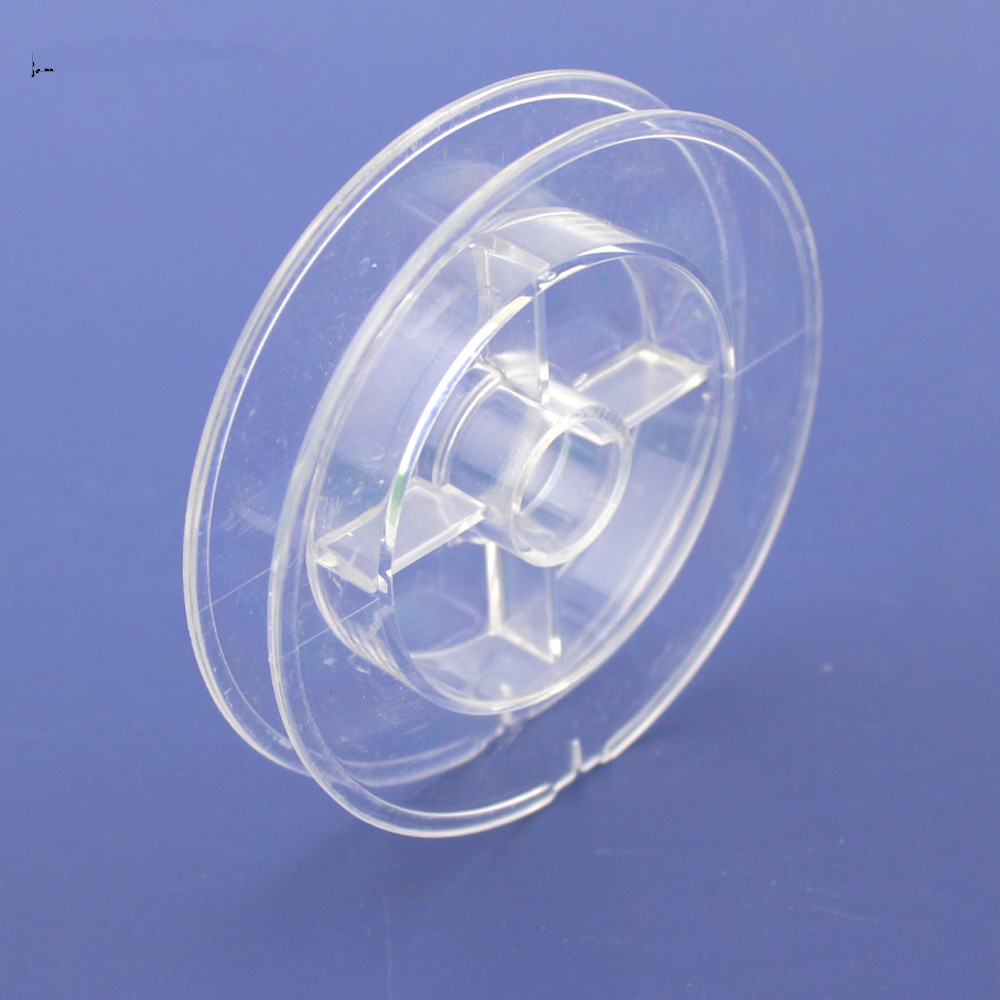 1pc J329 Transparent Round Winder 70*13mm Kite Wire Cable Winder DIY Model Parts Free Shipping Russia