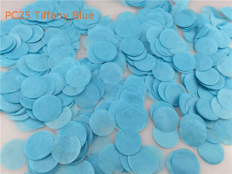 30g per Bag 2.5cm=1inch Wedding Decoration Tiffany Blue Circle Tissue Paper Confetti Baby Shower Birthday Party Decors