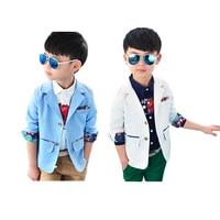kids blazer coat jacket solid gentleman cotton blazer for 2 8years children toddler boys suits outerwear clothes hot