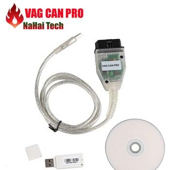 Calidad A + + VAG CAN PRO BUS CAN + UDS + k-line versión 5.5.1 VCP para obd 2 coche mejor que escáner de diagnóstico ODIS