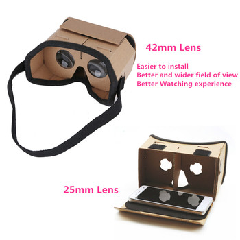 Light Castle Google Cardboard Style Virtual Reality VR BOX II Glasses For 3.5 - 6.0 inch Smartphone Glass for iphone for samsung 2