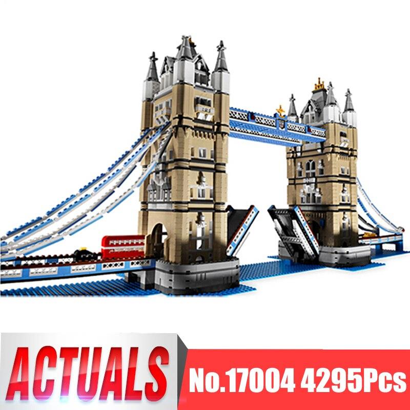 Lepin City Street Figures 17004 4295Pcs London Tower Bridge Model Building Kits Blocks Bricks Kid Toy Gift Compatible With 10214 все цены