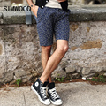 2016 New Arrival Simwood Homens Marca de Verão Casuais Calções Slim Fit KD512 Âncoras De Impressão Na Altura Do Joelho Plus Size Frete Grátis