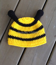 Newborn Bee Hat, Photo Prop, Baby Shower Gift, Crochet Bee Hat, Crochet Baby Hat