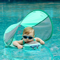 solid non inflatable baby pool ploat with canopy no not inflatable swimming ring swim trainer infant floating