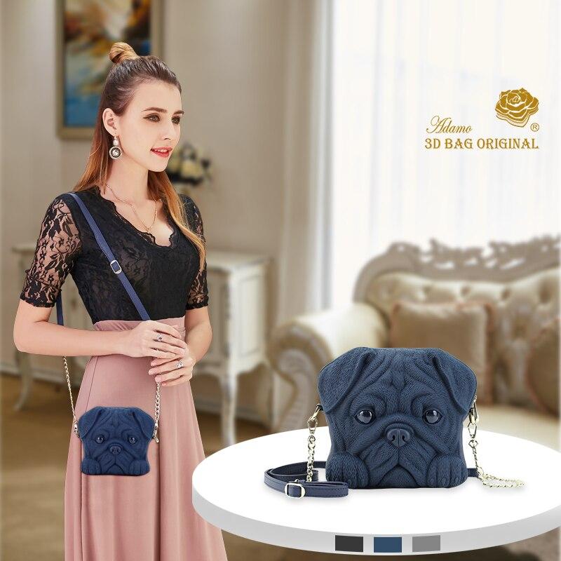 Adamo 3D Bag Original Tung-Tung Pug Dog Sling Bag Girls Messenger bag Casual Women Bag