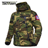 TACVASEN Men Winter Military Jacket US Army Thermal Hood Jacket Thicker Military Style Parkas Camouflage Cotton