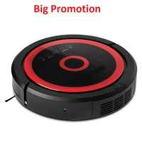 Remote Control Wet And Dry Mop Rechargeable Vacuum Cleaner Robot  With 3350mAH Lithium battery, Schedule,Water Tank