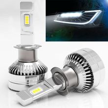 2Pcs Mini H7 LED Car Headlight Bulb H3 H1 9005 HB3 9006 HB4 H8 H9 H11 Canbus H4 12-24V 10000LM 6000K Lamp Heads lamp lamp philips diamond vision 5000 k hb4 9006 55 p22d 12 v 9006dvs2