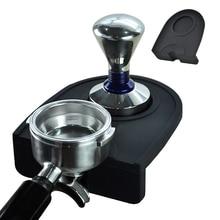 15*13.2*4.5cm Espresso Coffee Tamper Mat Silicon Rubber Corner Mat(no coffee stamper) Coffee Maker Tamper Mat
