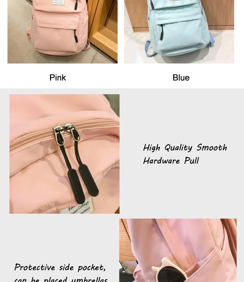HTB1.cRLbtzvK1RkSnfoq6zMwVXak DCIMOR Waterproof Nylon Women Backpack Female Large capacity high schoolbag Korean Vintage girl Shoulder Bags Travel Bag Mochila