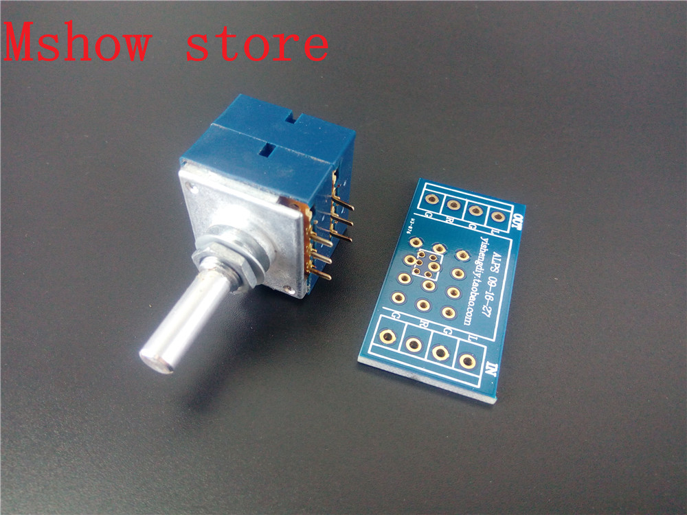 ORIGINAL /& Brand New ALPS RK27 27 Type Dual 10K Potentiometer with MOTOR