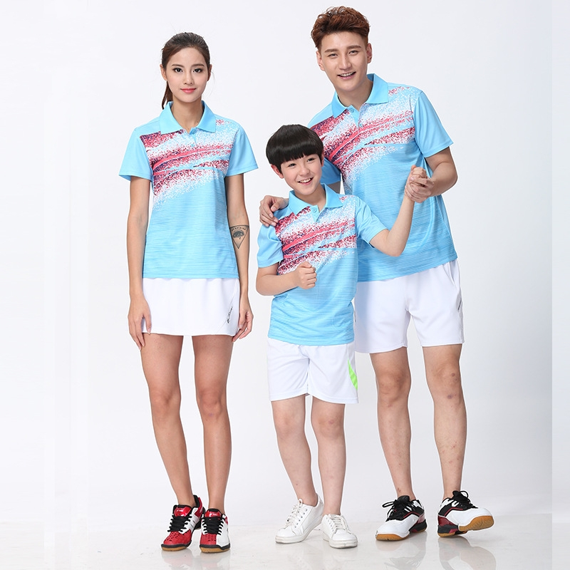 Badminton-Shirts Tennis-Jersey Sportswear Shuttlecock Polyester GY96 Parent-Child Breathable