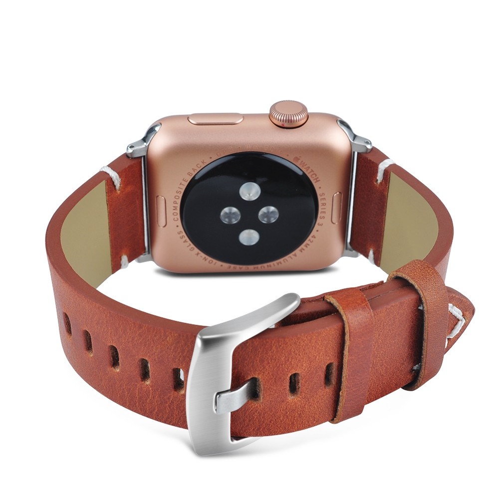 Fashionable Leather Strap Metal Buckle Replacement Watchband 38mm 42mm Apple Watch Band Solid Clasp For Apple Watch Series 3 цены онлайн