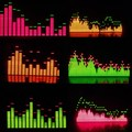 Espectro de la música visualizador de pantalla luz de espectro de frecuencia de luz V3 producto terminado Seis patrones de software filtro MS3264