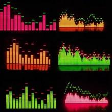 Espectro música displayer tela luz do espectro de freqüência de luz V3 filtro de Seis padrões de software do produto acabado MS3264