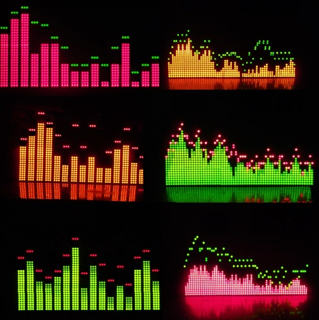 Music spectrum displayer screen light frequency spectrum light V3 finished product Six patterns software filter MS3264