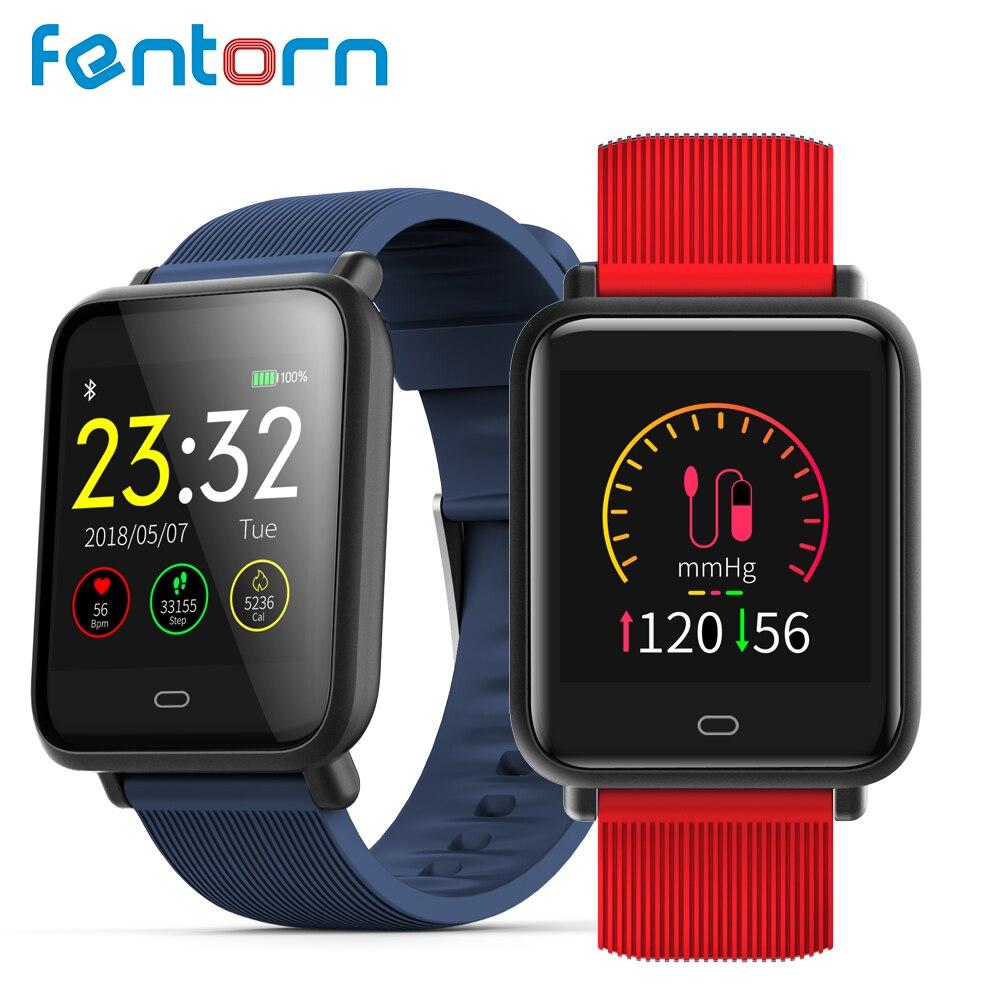 Fentorn Smart Watch Men Women Q9 Blood Pressure Heart Rate Monitor Fitness Tracker IP67 Waterproof Smartwatch