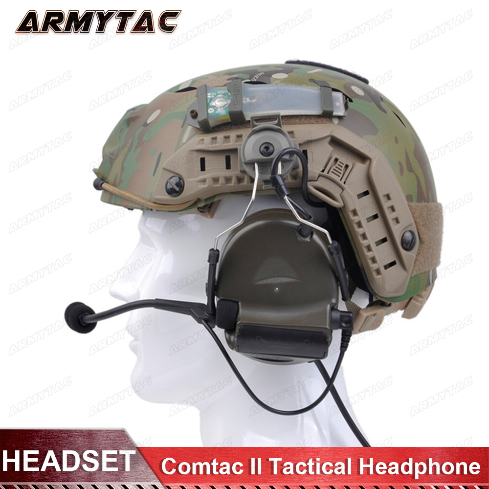 Z-Tactical Softair Aviation Headset Comtac ii Headset for FAST Helmets and Tactical Peltor Helmet Rail Adapter Set Z031 acecare l sordin headset for fast helmets helmet accessories rail adapter set