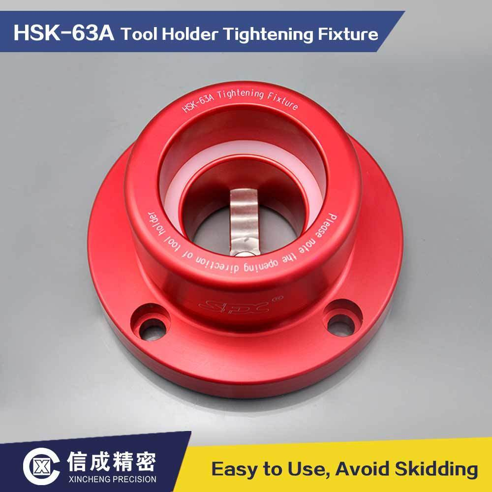 <font><b>HSK63A</b></font> End Mill Holder Lock Seat Tool Tightening Fixture Aluminum Alloy image