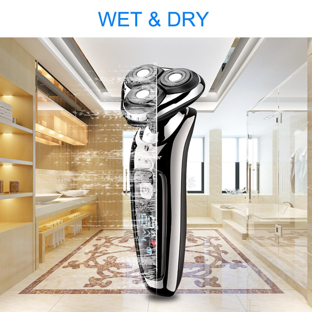 Image 5 - HATTEKER electric shaver facial electric razor for men 2in1 grooming kit usb rechargeable male beard shaving machine 9598A-in Electric Shavers from Home Appliances