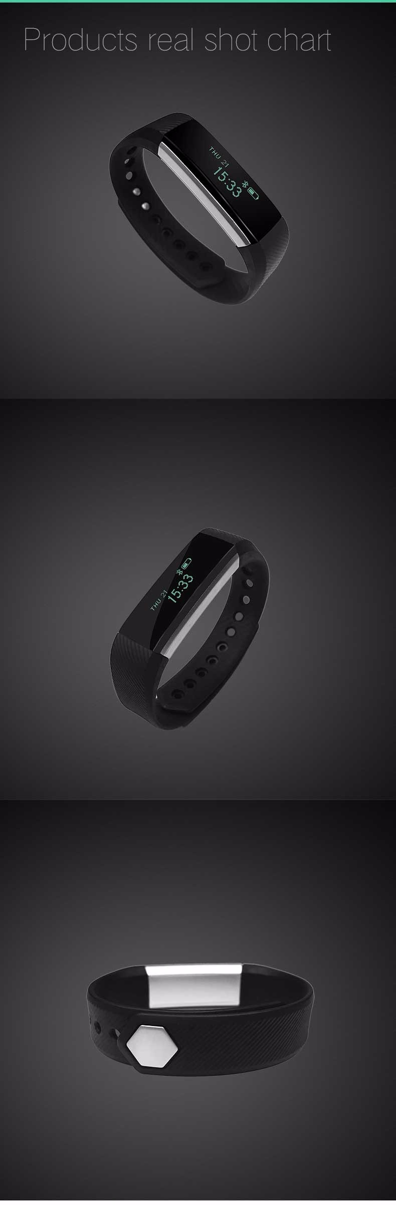 Fentorn ID115 Sports Smart band call message reminder Steps calorie activities Fitness Tracker Wristband Bracelet for smartphone 13