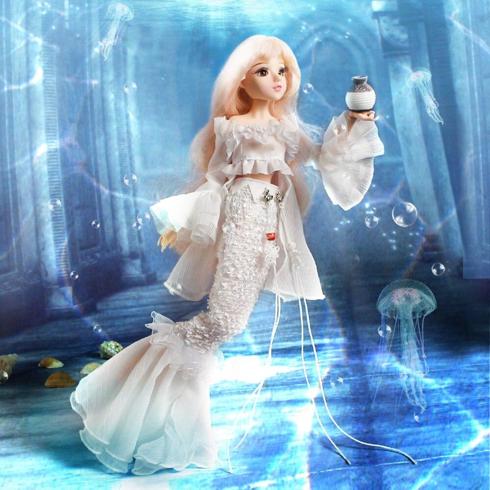 Fortune Days MMGirl 12 constellations poissons comme BJD Blyth poupée 1/6 30cm blanc en queue de poisson fantaisie 14 corps commun poupées jouet cadeau