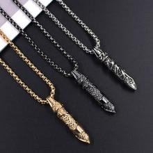 цена на Retro Men Necklace Hiphop Rock Bullet Pendant Necklace Fashion Necklace Jewelry Male Women Vintage Alloy Pendant Gift
