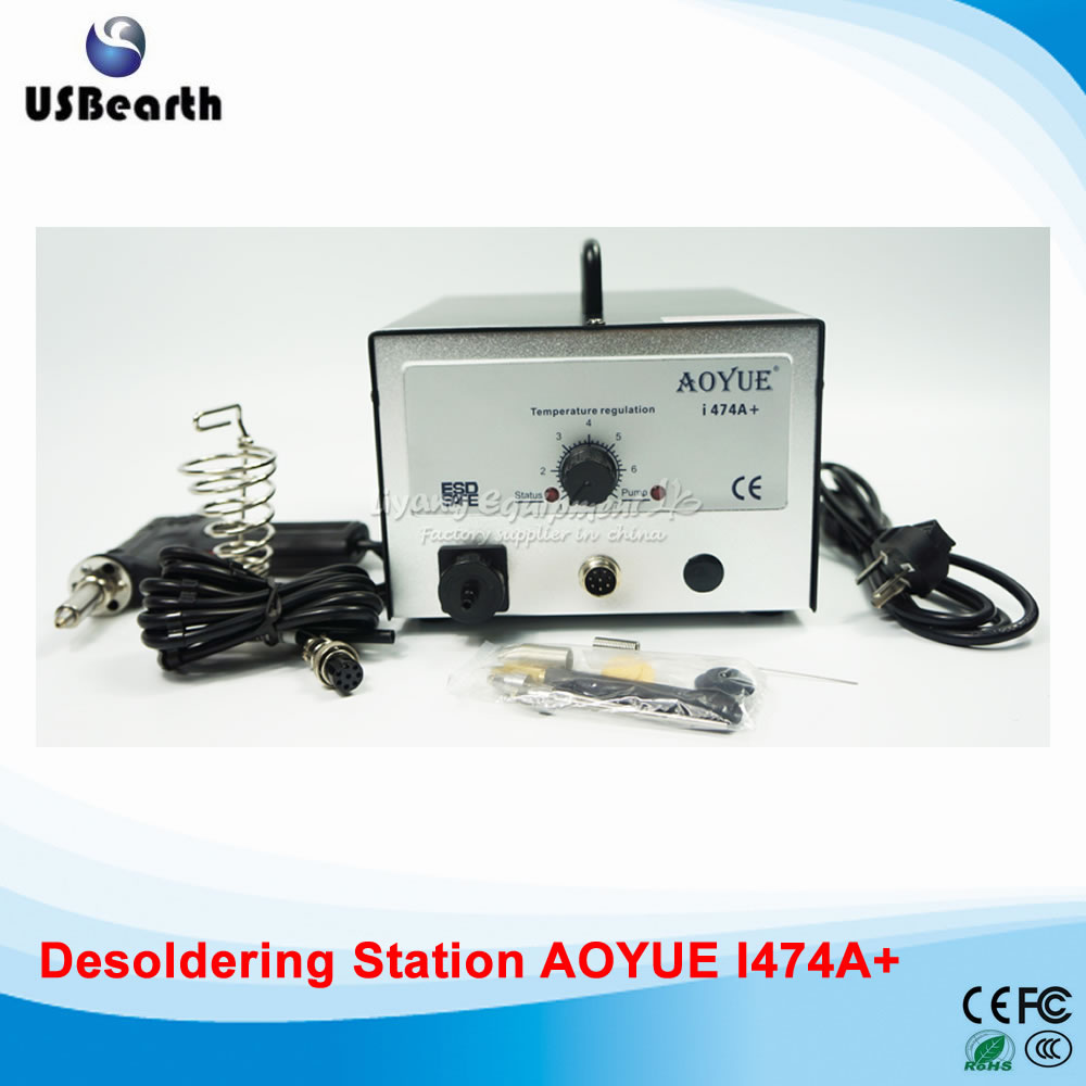 AOYUE 474A+ Upgrade I474A+ BGA Desoldering Station Electric Vacuum Desoldering Pump Solder Sucker , free tax to Russia tgk desoldering pump