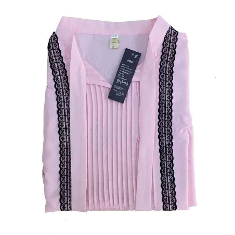 19992fd815d ... 2018 новые весенние блузки с длинными рукавами женские топы с v-образным  вырезом и бантом ...