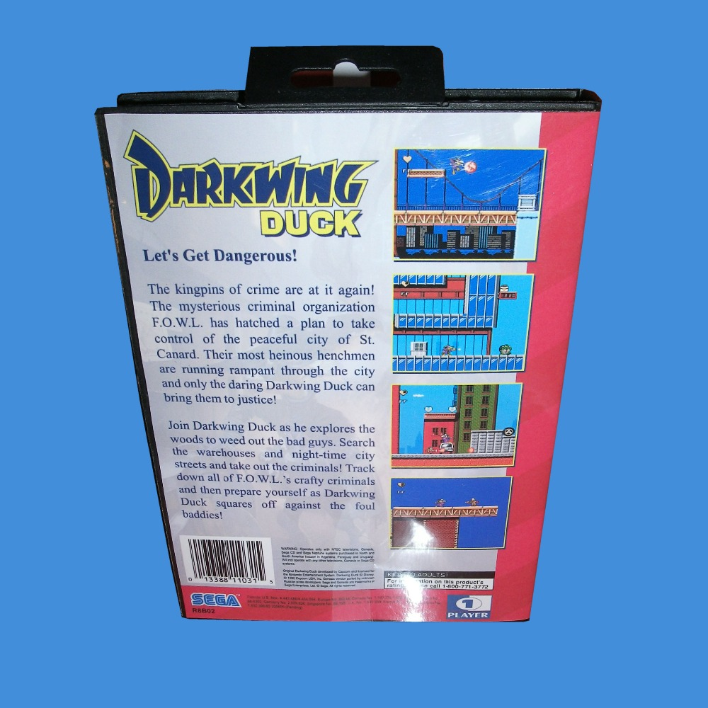 US $12 4 20% OFF|Darkwing Duck With Box And Manual 16bit MD Game Card For  Sega Mega Drive For Genesis-in Memory Cards from Consumer Electronics on