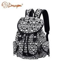 Douguyan девочек бренд рюкзак женщин Школьные ранцы милый черный холст рюкзак повседневный рюкзак для колледжа путешествия рюкзак G00125B