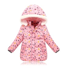 2017 Baby Girls Kids Cartton Printing Jacket Polyester Coat Spring Autumn Winter Warm Children Waterproof Clothes 3 Colors 3~6 T