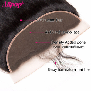 Image 5 - Straight Hair Bundles With Frontal Peruvian Human Hair Bundles with Closure Pre Plucked Remy Lace Frontal With Bundles ALIPOP