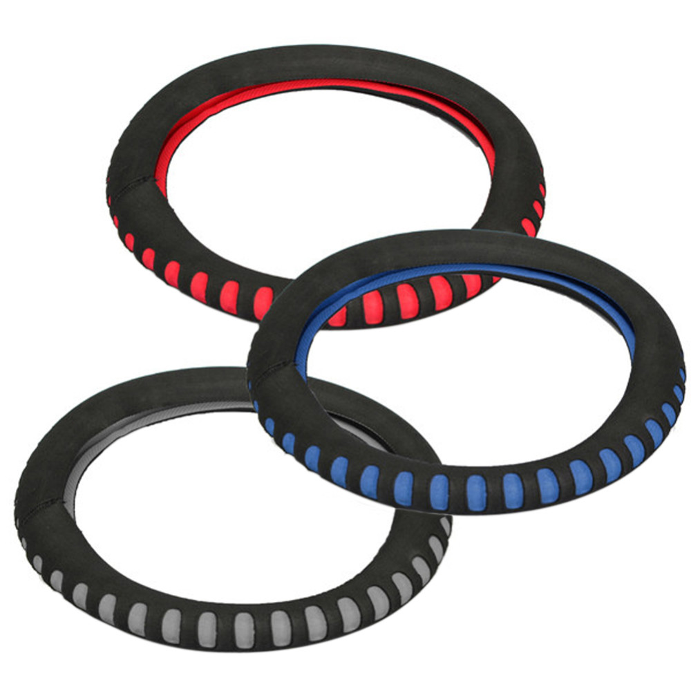 EVA Punching Universal Car Steering Wheel Cover Diameter 38cm Automotive Sup High Quality Car Styling Accessories 3 Colors 8
