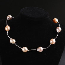 Zhaoru Freshwater Baroque Pearl Necklace  for Women Genuine Jewelry Gift ZN002