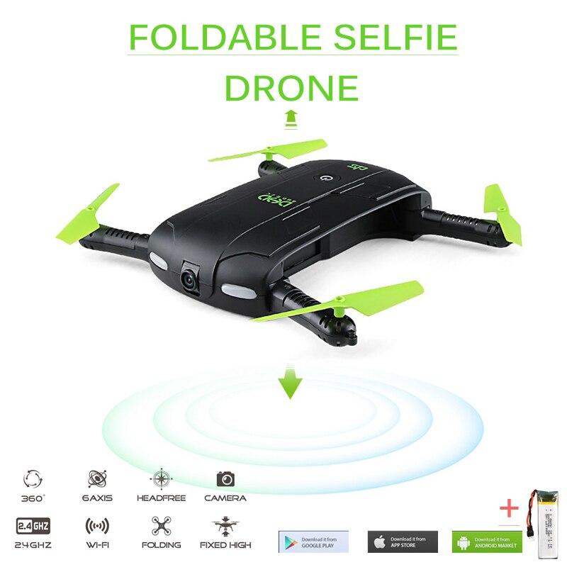 DHD D5 Selfie Drone con cámara Wifi FPV HD bolsillo plegable RC Drones Control del teléfono helicóptero VS JJRC H37 Mini quadcopter Juguetes