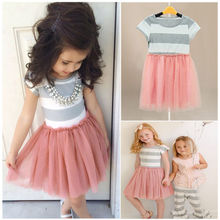 Girls Dress Baby Kids Girls Princess dress summer Lovely Tulle Party Fancy Dresses girls clothes 2