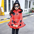 2017 new girls hand plug cotton long coat children's clothing winter cotton thicker Jackets Outwear  4-10 year