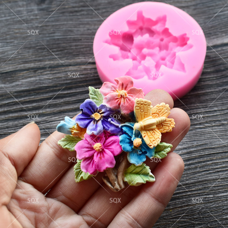 Flower Silicone Mold for Fondant, Cake Decorating Chocolate Cookie Soap Fimo Polymer Clay Resin SQ17225
