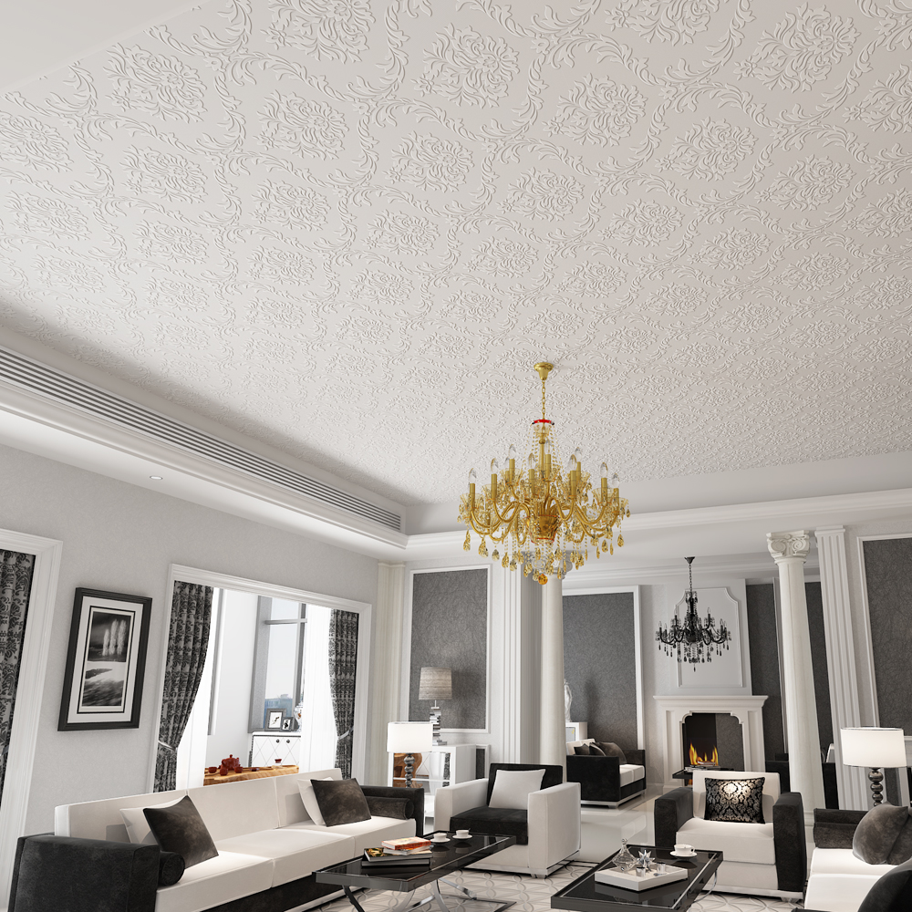 Ceiling wallpaper relief thick three-dimensional 3d wallpaper European non-woven geometric living room roof wall murals european style wallpaper mural living room ceiling ceiling wallpaper 3d three dimensional bedroom environmentally friendly non w