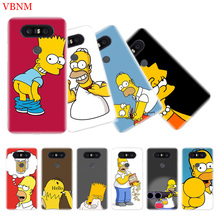 Funny Homer J. Simpson TPU Silicone Phone Back Case For LG G4 G5 G6 G7 Q6 Q7 Q8 V10 V20 V30 V40 K8 K10 Gift Ary Customized Cover