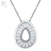 Korea Necklaces Pendants Cubic Zirconia Bijoux Round Neckless Clean Crystal Choker Trendy Lady Jewellery Birthday Gift