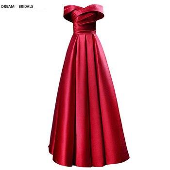 Free Shipping Evening Prom Gowns Dresses 2019 V-Neck Vestido De Noiva Elegant Handmade Rose Red Cap Sleeve Avondjurk