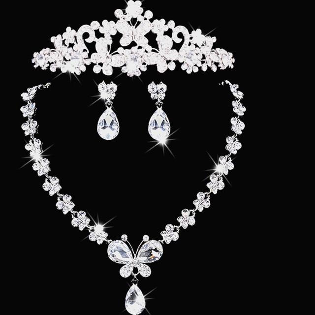 0008888ddccf Bowknot accesorios de boda de moda elegante de lujo Tiara de la corona del  Rhinestone del