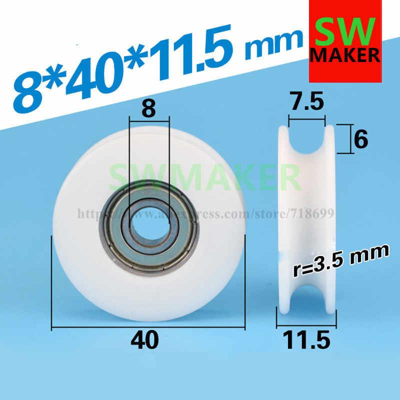 1pcs 8*40*11.5 millimetri 608ZZ pacchetto involucro di plastica POM POM filo linea di corda puleggia cuscinetto della puleggia U groove