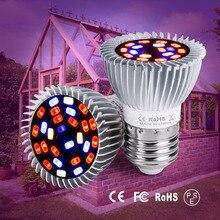E27 LED Full Spectrum Grow Light E14 LED 220V Indoor Plant Lamp 110V Phyto Lamps 18W 28W Bulb For Flowering Hydroponics System 28w